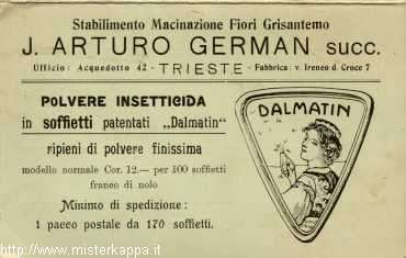 Trieste - Insetticida German (recto 1)
