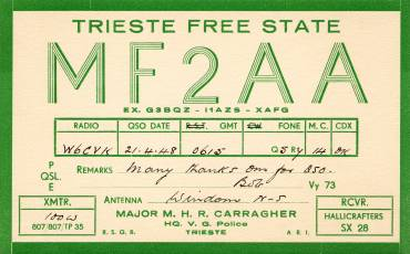 Trieste QSL MF2AA (recto)
