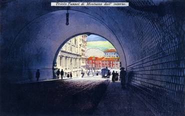 Trieste - Tunnel di Montuzza dall'interno (recto)